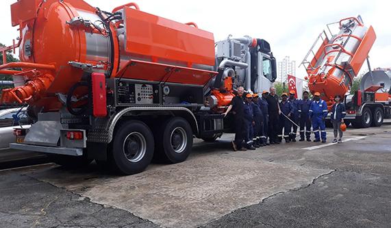industrial tank truck
